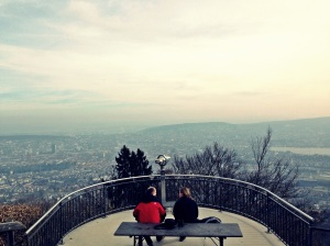 Top of Zurich in Mt. Uetliberg. Superb view!